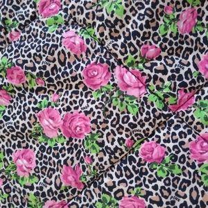 Victoria's Secret PINK Quilt Comforter Leopard